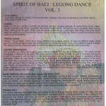 The Spirit of Bali Legong Dance Vol 3 - Semara Ratih