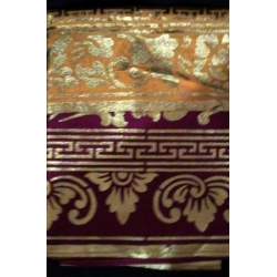 Gold-painted Sarong with Under-cloth